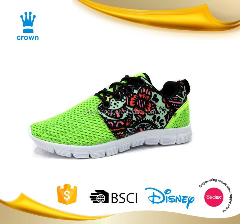 colorful new design cheap run women Sport Sneaker lightweight running comfortable shoes