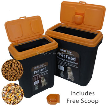 Pet Food Storage Container Dog Food Bin With A Scoop