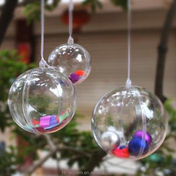 156cm diameter clear plastic sphere christmas decorative ball 1lot40pcs - Plastic Christmas Balls