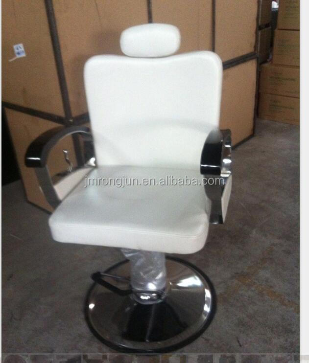 Modern pure white half recline salon lady hairdressing chair