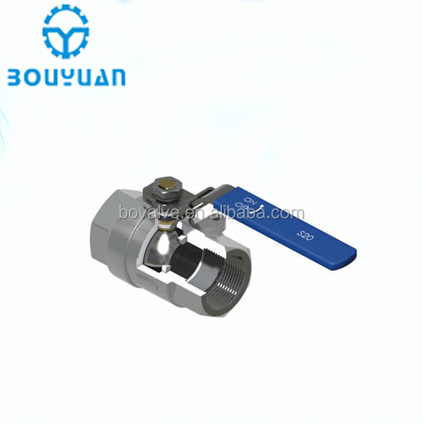 Top Quality ss304 1pc Handle stainless steel ball valve 1000wog