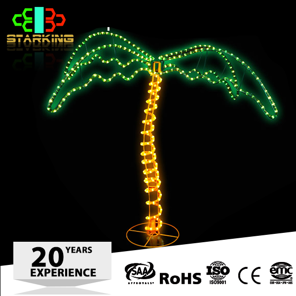 holiday time christmas decorations led rope light palm tree