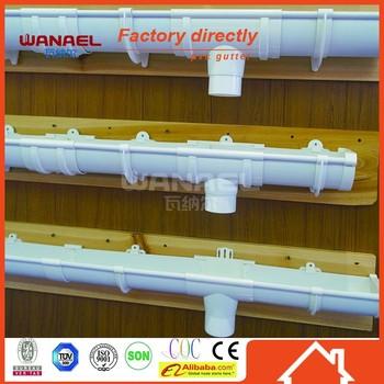 Plastic Profiles Wanael Free Sample Half Round Pvc Gutter