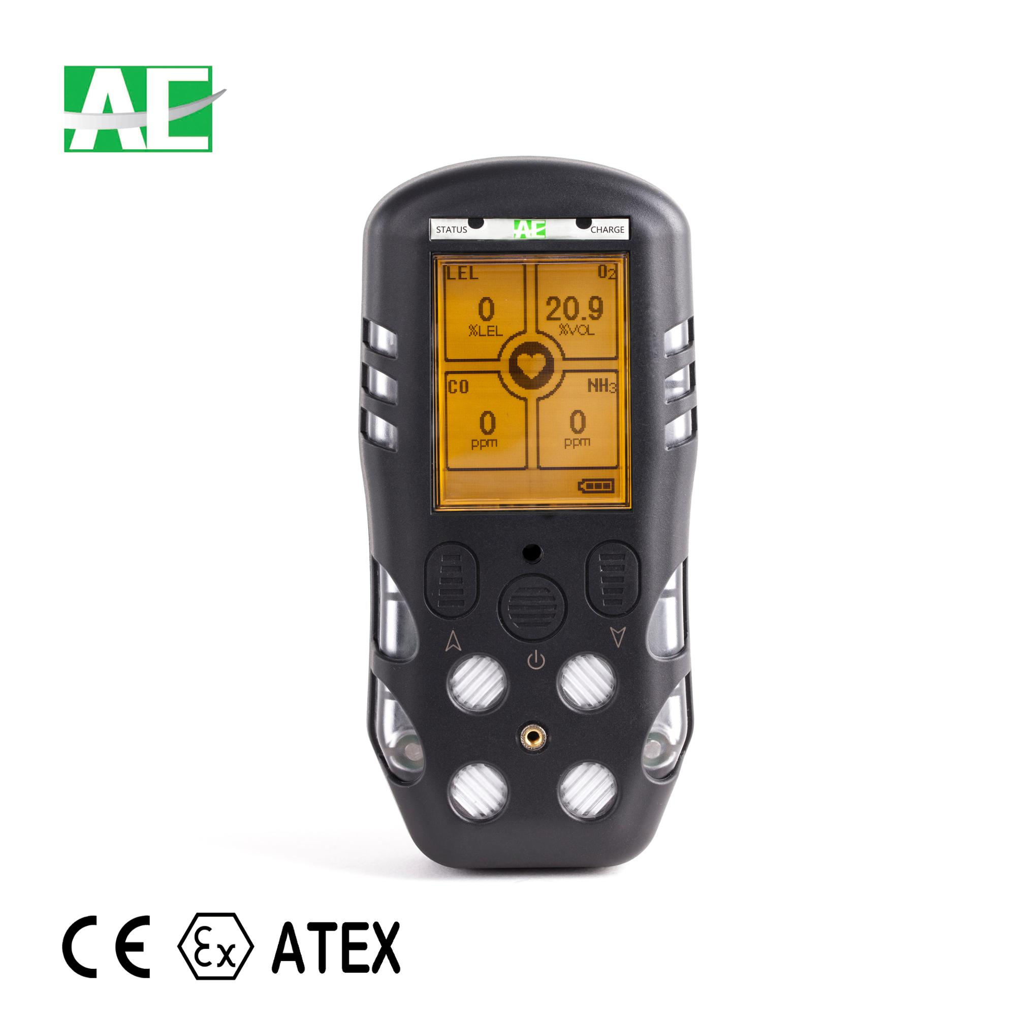 CE ATEX approved portable gas leak detector multi gas detector