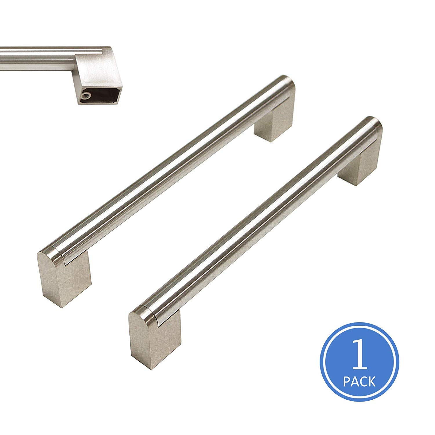 Knobonly Stainless Steel Cabinet Pulls Kitchen Cupoard Handles Boss Bar Style 6-1/4 inch Hole Centers,1 Pack