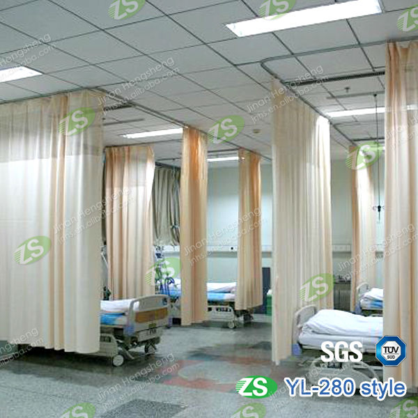 Blue Color Medical Partition Hospital Curtain Factory Sold Directly Medical  Curtains
