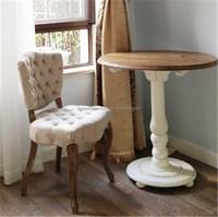 european style kitchen round solid woodrestaurant table & chair
