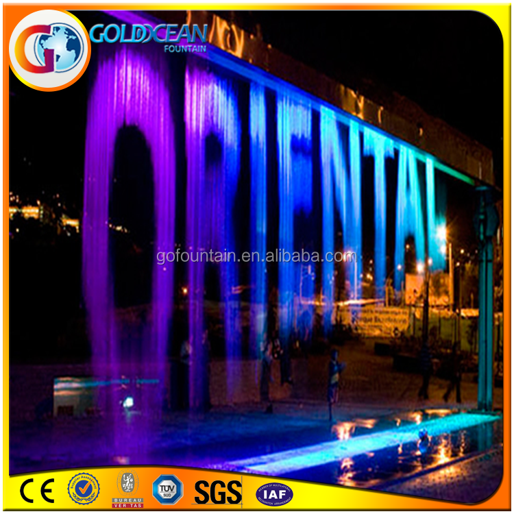 Large SS Material High Quality Digital Waterfall Water Writing