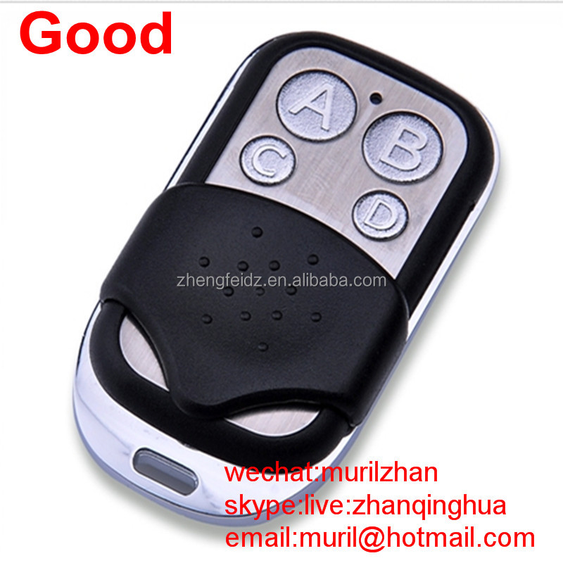 Black+silvery Mini 4 buttons Universal remote control 433 MHz gate Auto Key To GATES CAME FAAC
