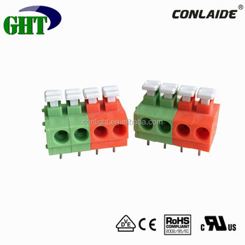 675 Series 4 Pin Screwless Push Button Pcb Terminal With Two ...