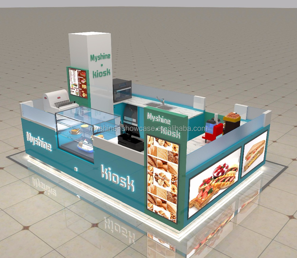 Custom Retail New Style Sushi Kiosk with Sushi Bar Counter Design