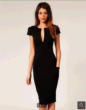 D43771a Moda Mujer Estilo Largo Vestido Lápiz Buy Lápiz Estilo Vestido De Noviavestido De Lápiz De Fiesta De Estilo Largo De Mujermoda Cuello En V