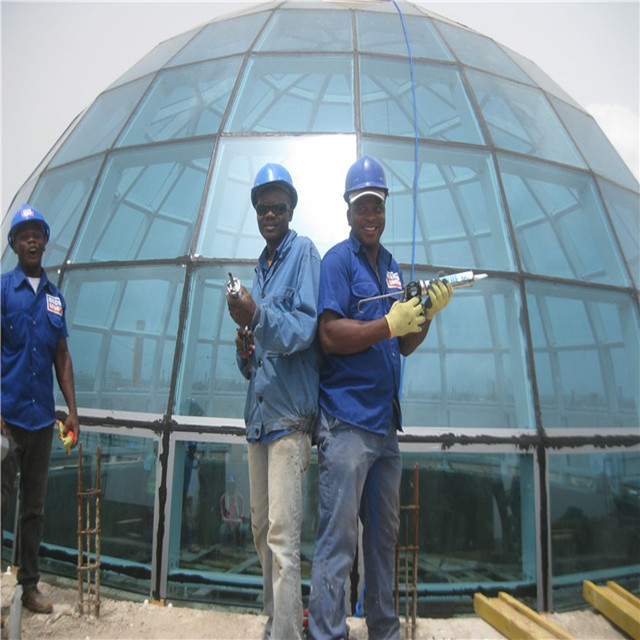 Simple assembly steel glass dome house