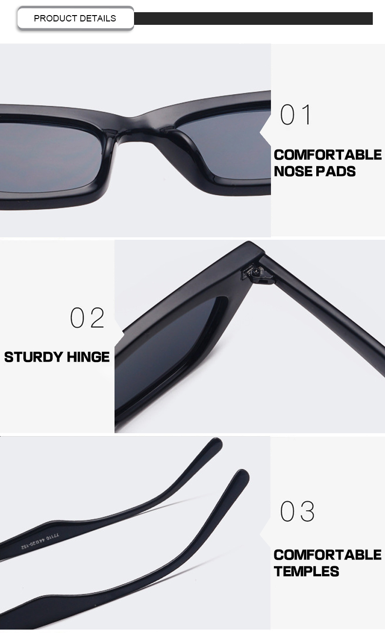Luxury Small Plastic  Frame  Candy Cat Eye Sun Glasses Unisex Sunglasses