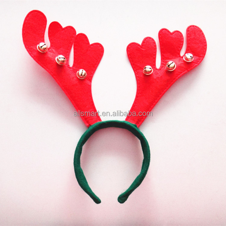Adults Festive Christmas Santa Elf Reindeer Xmas Bell Hat Headband For Festive Fancy decoration