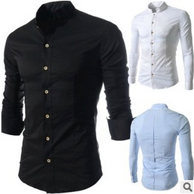 Round bottom casual man shirt traditional mens clothing