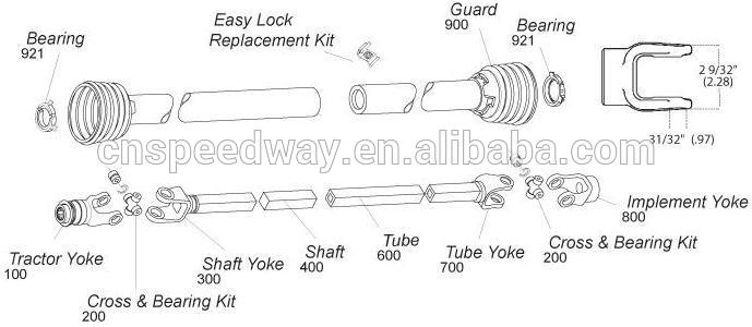 Pto Drive Shaft Bolt : Agriculture machinery pto shaft with shear bolt torque