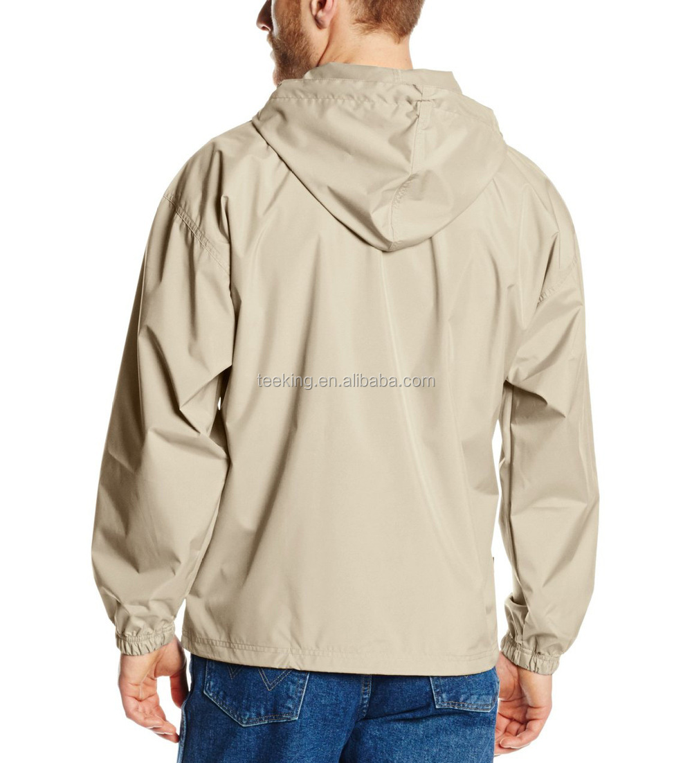 Men 39 s wind and water resistant pullover windbreaker buy for Wind resistant material