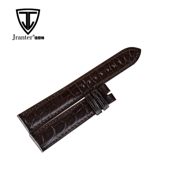 OEM oand ODM Service Genuine Crocodile Leather Replacement Watch Band Manufacturer