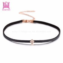 Leather Choker hand Necklace for Women Handmade Choker Necklace Black Collar Necklace Female Choker