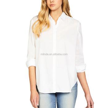 4779677b974419 OEM Women Plain Dyed White polyester spandex Fleur long Sleeve Shirts For  Fancy Girls Latest Formal
