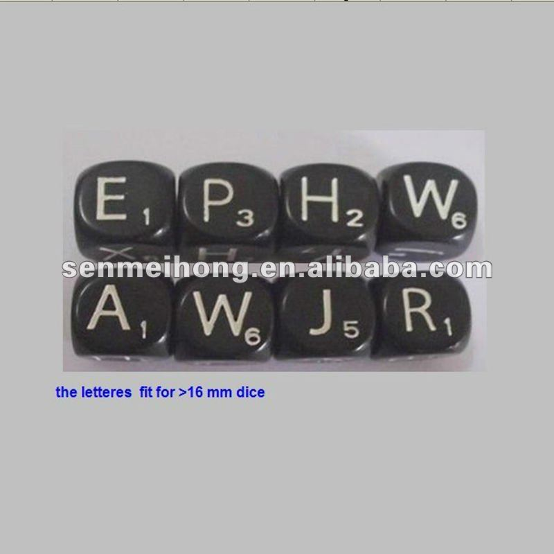 Customed Round Dice Factory,Acrylic Letter Dice