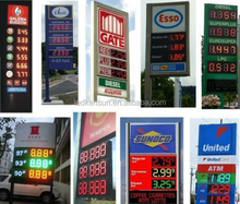 Outdoor waterproof 12 inch 7 segment led display gas station price signs indoor led display screen
