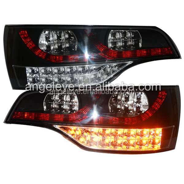 Tial lamps For Q7 2006-2010 year LED rearlights For Audi Q7 led Tail light Back Lamp Black housing clear cover SN