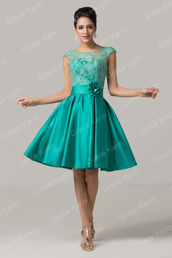 Grace Karin Sleeveless Short Knee-length Bridesmaid Dresses Cl6116-1 ...