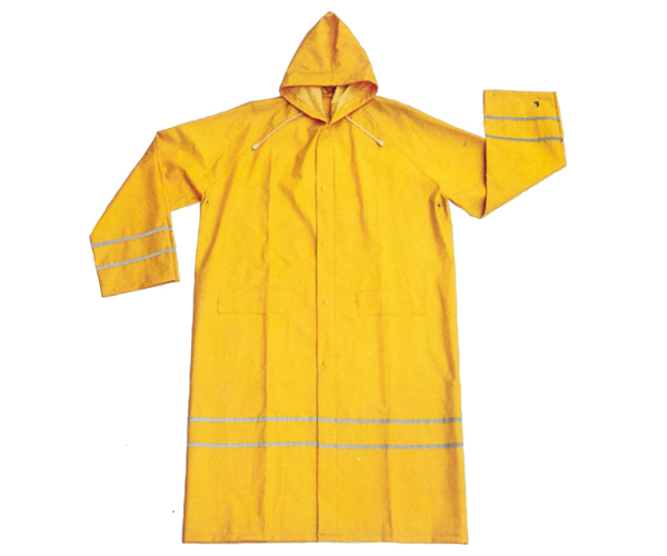 SLF-9096 PVC Polyester Rain Wear With Reflective Tape rain suit rain coat