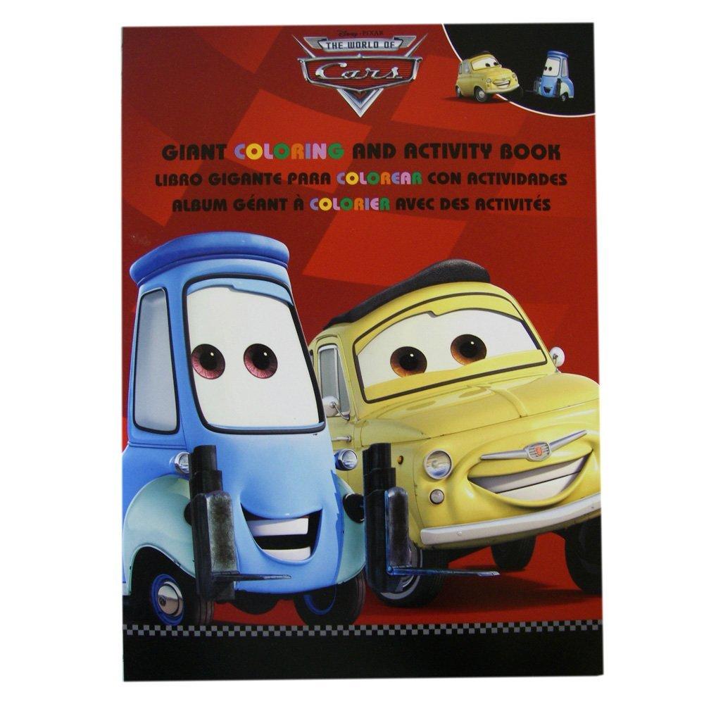 Cars Coloring Book - Disney Pixar Cars Tri-Lingual Jumbo Coloring And Activity Book (1 Book) - Red