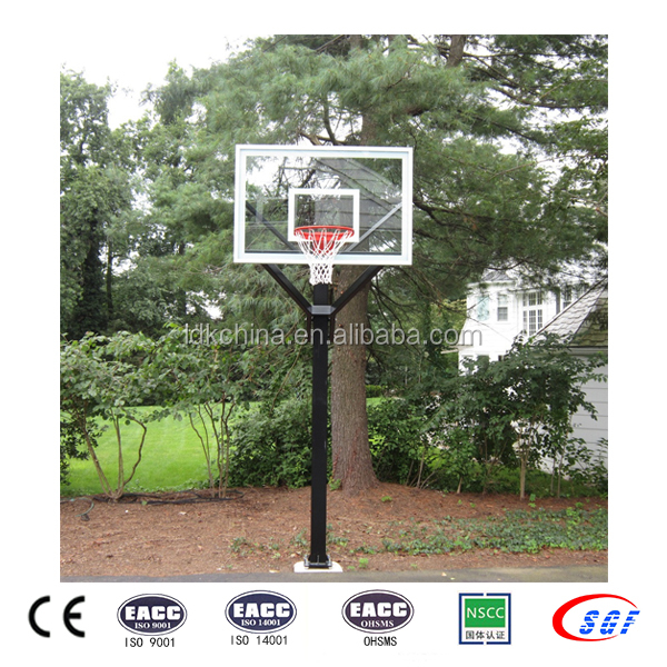 2016 adjustable residential basketball system inground basketball hoop