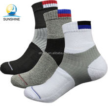 Outdoor travel cotton sports ankle socks mens boys athletic socks