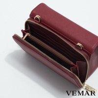 Exquisite Abrasion-Proof Patent Small Leather Bag With Wallet