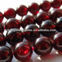 12mm natural round smooth African garnet rare beads for fine jewelry
