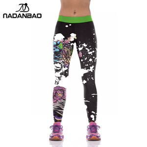 NADANBAO Brand halloween bloody female zombie sports Breathable Nine Points Briefs Leggings
