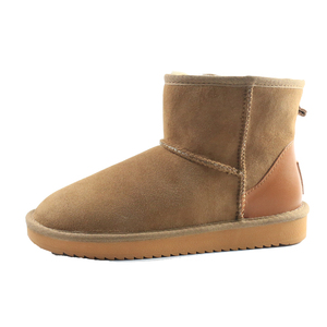 Customizable Classic Cow Suede Leather Winter Warm Short Australia Sheepskin Shearling Snow Boots for Women