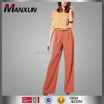 f73fca3f6a262 New Collection Islamic Clothing Wide Leg Pants Women Muslim Pants Loose  Palazzo Pants Women Plain Color