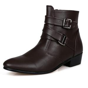sh10358a Hot style leather boots men high cut winter boots men