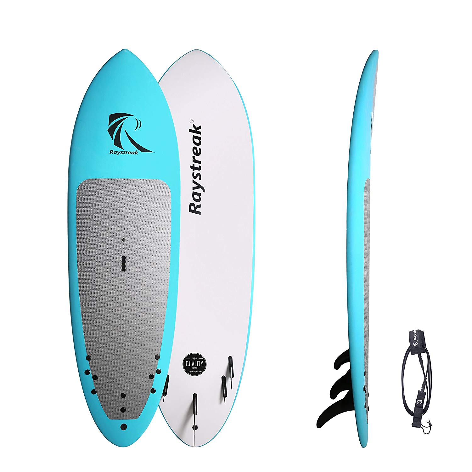 f02d35e9d Get Quotations · RAYSTREAK 8 6 Blue Soft Top Stand Up Paddle board with  deck pad 8ft 6