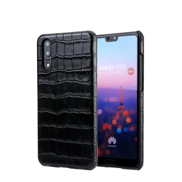crocodile leather case <strong>manufacturing</strong> for HUAWEI P20