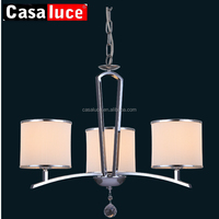 Hot sale chrome iron modern luxury chandeliers crystal globe pendant lamp