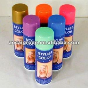 Lavable temporal tintes cabello spray