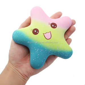 Mskwee 2018 Amazon Hot Salings Kawaii Star Squeeze Stress Relief PU Foam Squishy Slow Rising Toy