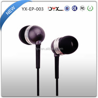 Wholesale In-ear Metal Earphone with Mic for iPhone, 3.5 mm Wired Control Stereo Earphone for iPad