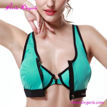 Green Front Zipper Women High Quality Stylish Beautiful Bra Sexy Bra Design d307ee437