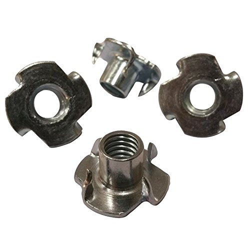 "4 Prong T Nut 5/16""-18 x 3/8"" (Tee Nut) Qty: 1000 Zinc Plated"
