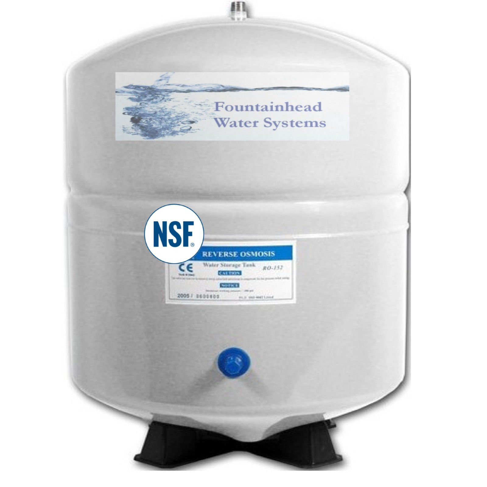 REVERSE OSMOSIS WATER STORAGE TANK 3.2G with storage capacity of 2.8 gallon
