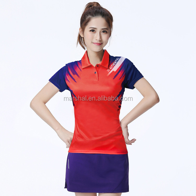 d77c2d97 Couple's china sports badminton wear ,sportswear volleyball ,high quality  badminton polo shirt