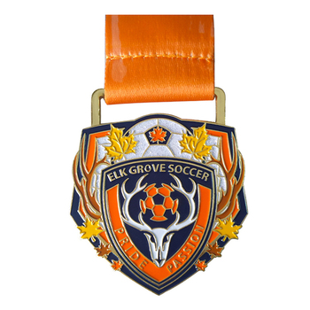 Manufacture 3d custom award running marathon finisher enamel metal sport medals with ribbon